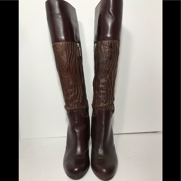 3c204330b Dolce & Gabbana Shoes | Knee High Leather Round Toe Inside Zip ...
